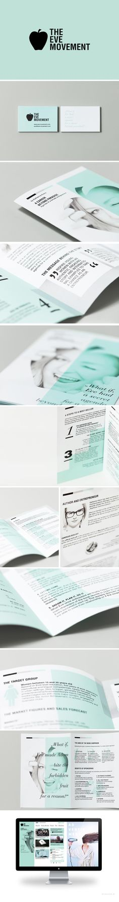 """Corporate Design for Katharina Krenn and the """"Eve Movement"""" by Nicouleur"""
