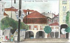 Un rincón de Pontevedra Lápices acuarelables
