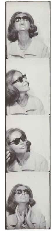 Andy Warhol, photobooth pictures of Ethel Scull