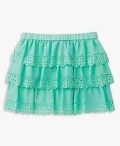 Ruffled Laser-Cut Skirt   FOREVER 21 - 2039108101