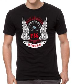 Men's+Tshirt+BMW+BIMMER+M+POWER+Black+T-Shirt