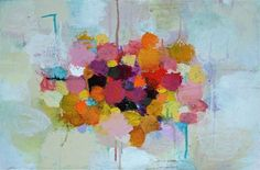 ARTFINDER: Summer Bouquet by Sandy Dooley - Abstracted painting inspired by late summer colours and sun.