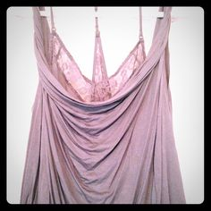 Free People top Sensual and soft draped top with built in lace cami   Sexy and unique sewn into one soft gray piece Free People Tops