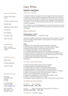 Construction CV Template Job Description Writing Building Curriculum Vitae Examples ExamplesInterior Design