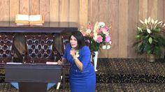 """Nurture Pastor, Massiel Davila-Ferrer from CUC, Lacombe, Alta, presenting """"Shouldn't I Be Perfect By Now?"""" at Edmonton Central Church..."""