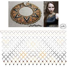 Diy Necklace Patterns, Beaded Jewelry Patterns, Beading Projects, Beading Tutorials, Fabric Origami, Beading Patterns Free, Beaded Crafts, Beaded Collar, Bead Crochet