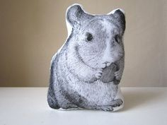 Chinchilla Hand Painted Throw Pillow - This is so cool. I could sit on it while I play with my chinchillas. :)