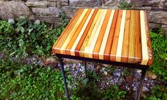 Buy Hand Made Reclaimed Wood Bar Stools With Industrial Rebar Legs ...