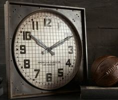 Vintage Industrial 1940s Gymnasium Clock | Cool Material