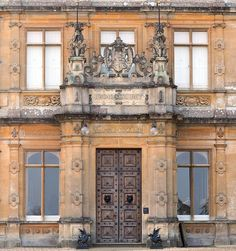 "Front entrance of Highclere Castle (setting of ""Downton Abbey"")"