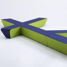 Runway loungemøbel, Busk+Hertzog, Runway loungemøbel i blå og grøn