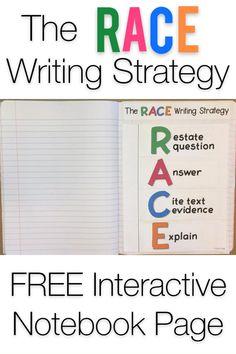 Races Writing Strategy, Race Writing, Writing Strategies, Writing Lessons, Writing Resources, Teaching Writing, Writing Help, Teaching Resources, Third Grade Writing