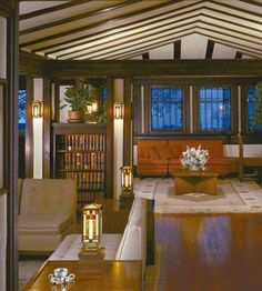 "Arts And Crafts Movement Interiors | ... is an example of how to give an interior a feeling of ""shelter"