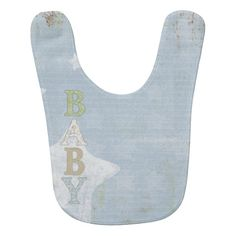 Easily add a photo of your baby to this sweet bib.  #baby #bib