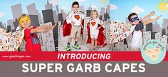Let their inner super-hero out with these darling super-hero capes from @goochiegoogarbs!