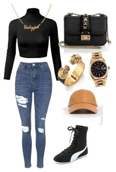 Untitled #5 by anigelb on Polyvore featuring polyvore, mode, style, Topshop, Puma, Valentino, Alexander McQueen, Rolex, fashion and clothing