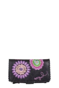Desigual women's Bordado Galactic purse with separate sections for cards and coins. Snap and zip fastening. Clutch Purse, Purse Wallet, Women's Accessories, Fashion Brands, Purses And Bags, Handbags, Clothes For Women, Leather, Separate