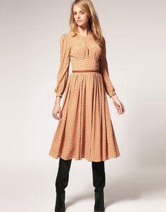 Midi Dresss with Full Skirt