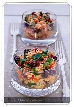 ensalada crujiente de cuscus http://www.midulcetentacion.es/search?updated-max=2011-09-22T07:43:00%2B01:00=10 #comida #ensalada #ricos