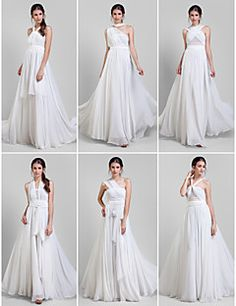 A-line Floor-length Georgette Convertible Dress (1539444) – USD $ 119.99