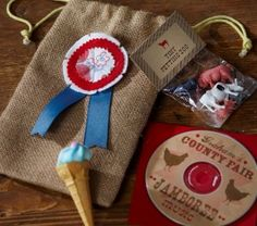Favors....ha! Tiny petting zoo and county fair jamboree...these are a must!