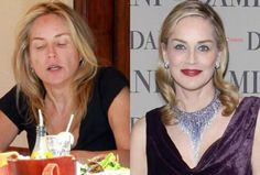 Sharon Stone without makeup. If you want to feel like a celeb with your own personal makeup artist, contact me for a free makeover in central Louisiana or find a Fleur de Vie advisor near you at www. Sharon Stone, Penelope Cruz, Celebrity Look, Celebrity Pictures, Celebrity News, Jennifer Lawrence, Ugly Photos, Free Makeover, Celebs Without Makeup