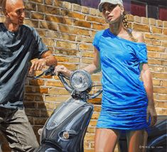 Urban Youth Paintings by Michele Del Campo Italian Painters, Italian Artist, Graffiti O, Photorealism, Pictures To Paint, New Artists, Female Art, Illustration, Milan