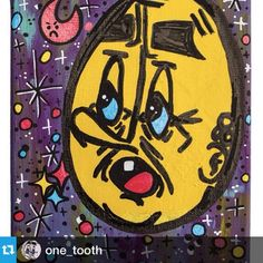 @one_tooth ・・・This piece is for sale on the shop! Comes with free stickers and free shipping. Link in profile.