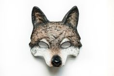 The Brown Wolf Animal Mask Papier Mache Festival by NibAndChisel