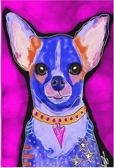 Chihuahua Art, Cat Background, Framed Art, Wall Art, Pet Art, Gifts For An Artist, Black Shadow, Dog Portraits, Dog Lovers