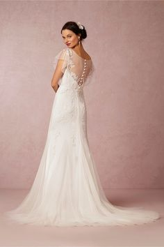 Bettina Gown from BHLDN back of dress. i think this is a gorgeous dress