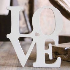 This would be cute with some candles as a centerpiece. Maybe ones with our initials/monogram? Love Letras, Light Up Letters, Home Room Design, Love Rainbow, Mr Wonderful, Saint Valentine, Heart Sign, Love Signs, Wooden Letters