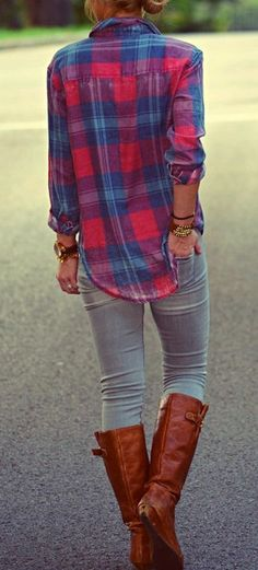 Feminine plaid. - Feminine plaid.  Repinly Women's Fashion Popular Pins