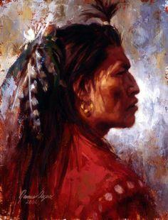 james ayers | James Ayers Native American Indian art - Boundless Strength