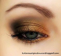'Autumn Nights' Idea Gallery look by Alieneczka using Makeup Geek Beaches and Cream, Corrupt, Glamorous, Mocha, and Vanilla Bean eyeshadows.