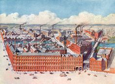 Huntley & Palmers' Biscuit Manufactory, Reading, England. From London's Social Calendar (Savoy Hotel, c 1915).