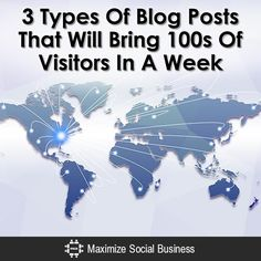 3 Types Of Blog Posts That Will Bring 100s Of Visitors A Week - @nealschaffer