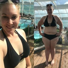 Finally brave enough to live up to my insta name in public!!!!! Ive never worn a bathing suit or bikini in public - not even in front of my friends at their home pool!! Ive always been the girl sitting on the side covered in long board shorts and a t-shirt! But on this cruise Im celebrating the hard work Ive put in over the last 12 months (maybe celebrating a little too much with the food! ) and trying not to care what other people might think about how I look. Merry Christmas everyone and…