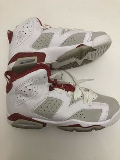 super popular 86726 33c0d Nike Air Jordan 6 Retro BGAlternate Wht Gym Red Pure Platinum 384665-113 sz  6Y  fashion  clothing  shoes  accessories  kidsclothingshoesaccs   unisexshoes ...