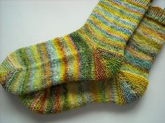 Flower Child handspun Socks by fuzzynoodleknits, via Flickr  Pattern: http://www.ravelry.com/patterns/library/handspun-show-off-socks#