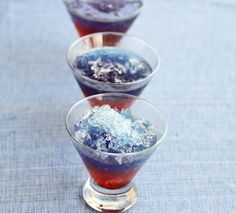Snow Cone Drinks for July 4th | Kirbie's Cravings | A San Diego food blog