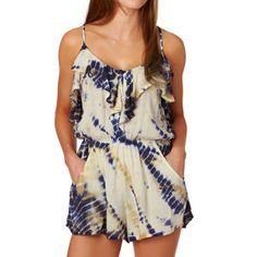 Billabong Playsuits - Billabong Dream Escape Playsuit - Blue Cruz