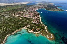 Novalja (skyview), Croatia