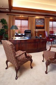 Executive Office traditional home office #Traditionalhomeoffices