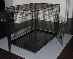1000 images about dog crate on pinterest folding dog crate huge dogs and brand new. Black Bedroom Furniture Sets. Home Design Ideas