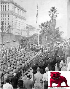 1941 Panama's Independence Day Celebration at City Hall Los Angeles California