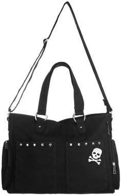 Studded Black Nappy Diaper Bag