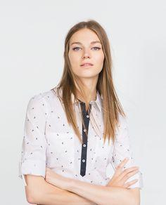 CAMISA POPELÍN ANCLAS - Ver todo - Camisas - MUJER | ZARA España