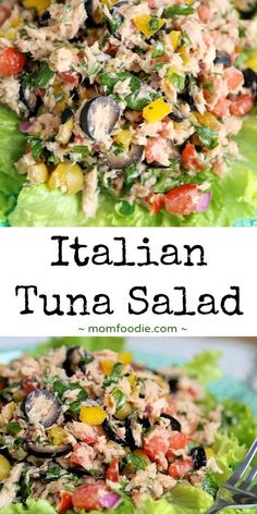 Italian Tuna Salad: very tasty! omitted pepper, used kalamata olives, tuna packed in water and added olive oil to dressing, added avocado and feta. Made for REM lunch Healthy Meals For Kids, Good Healthy Recipes, Healthy Foods To Eat, Paleo Recipes, Low Carb Recipes, Healthy Eating, Healthy Oils, Healthy Nutrition, Healthy Mummy