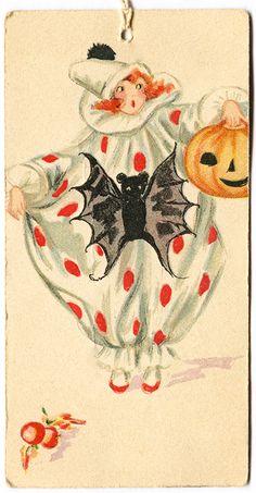 Vintage Harlequin Tally Card